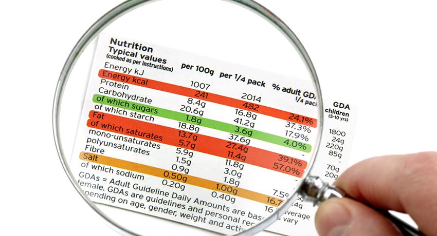 food label image