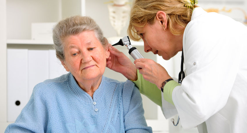 Hearing exam image via shutterstock
