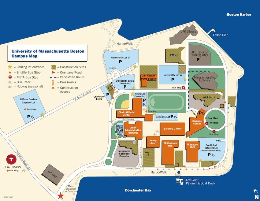 Map Image via UMass Boston