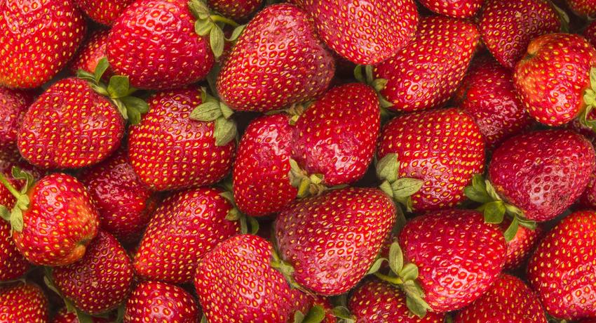 Strawberries photo via Shutterstock