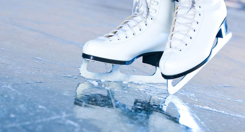 Ice skating image via shutterstock