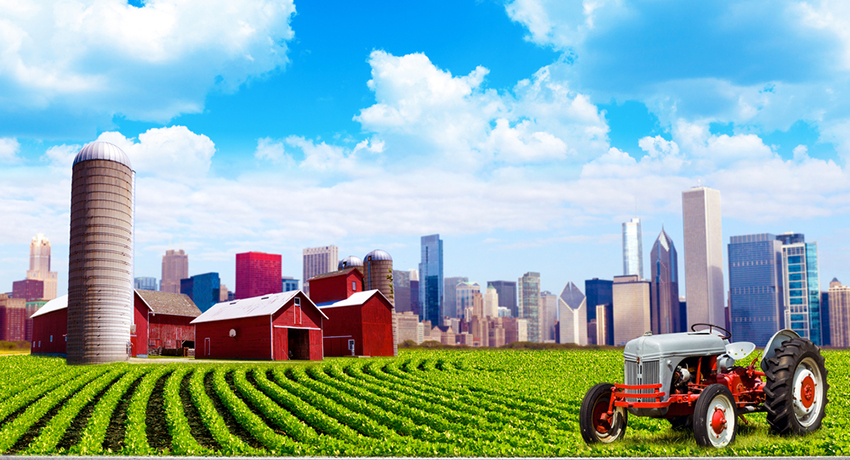 Urban farming illustration via shutterstock