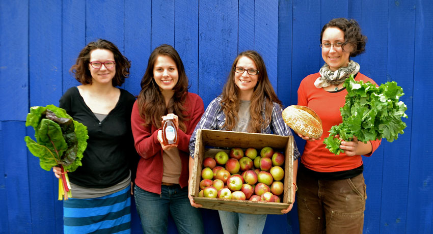 The four VGF worker/owners: Becky Szlosek, Ally Sterling, Rebekah Hanlon, and Ruth Ann. Image provided