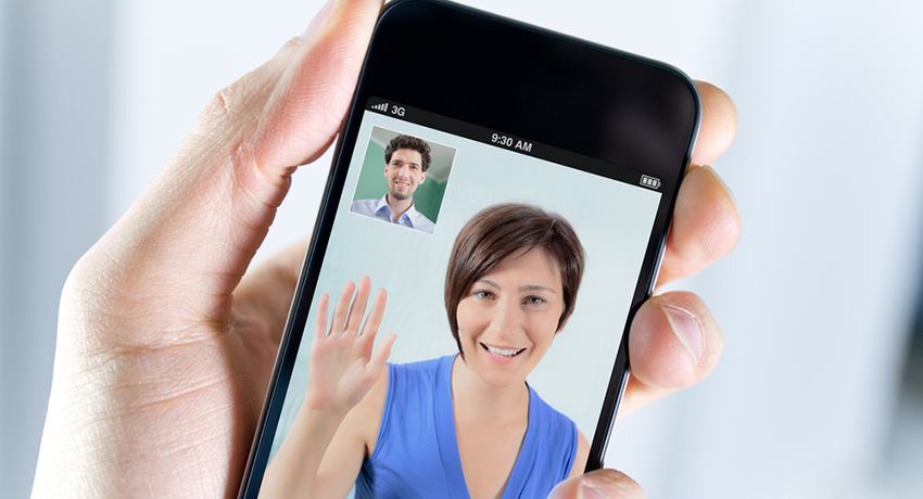 Mobile video conferencing image via shutterstock
