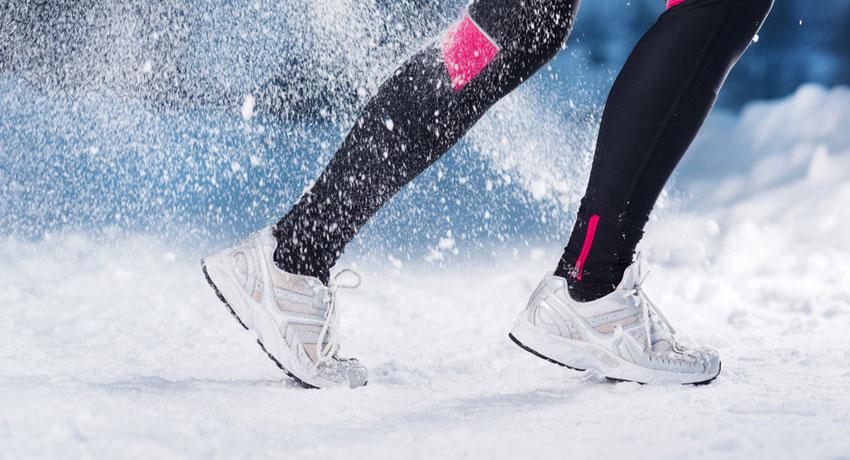 Winter running image via shutter stock