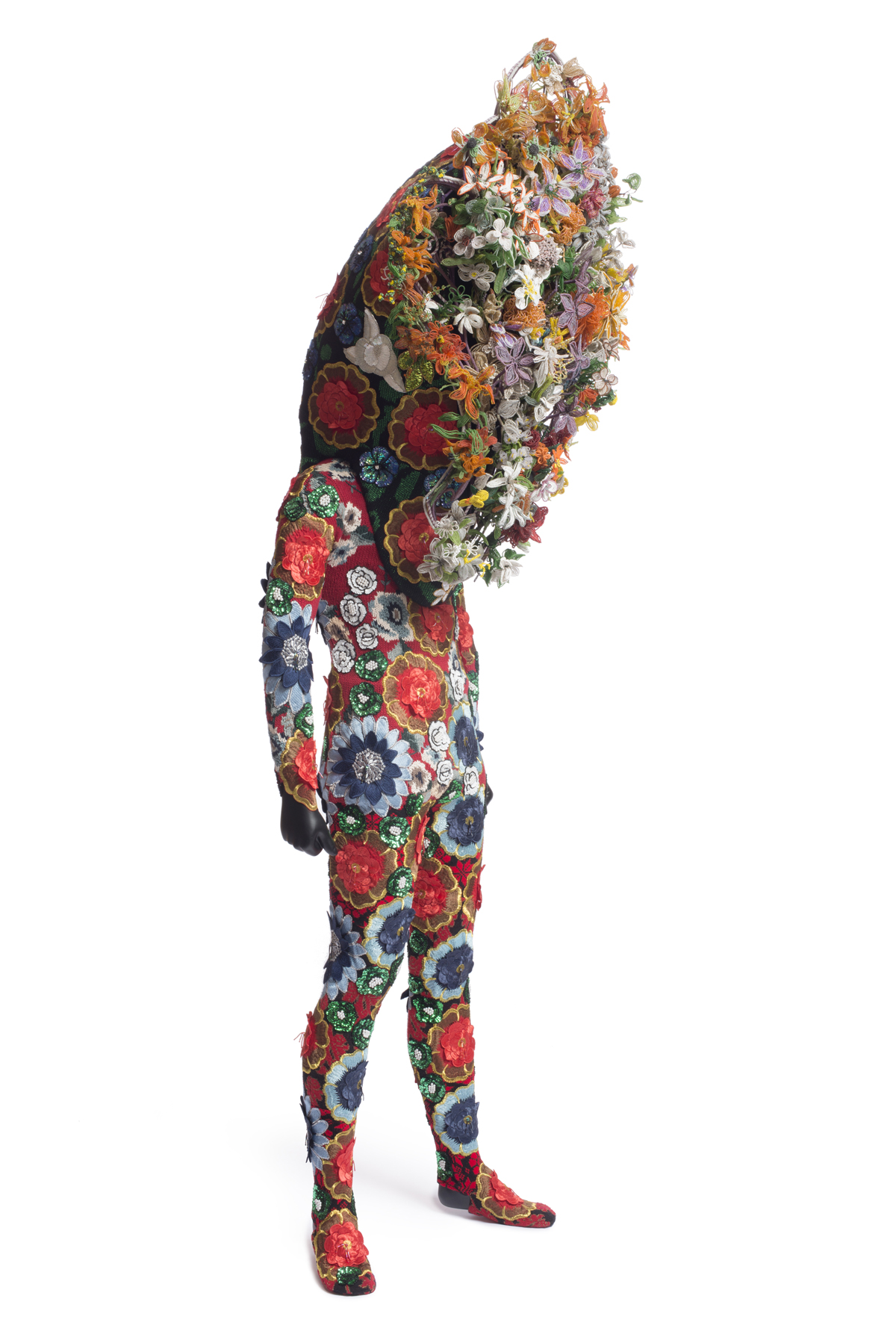 Soundsuit made of mixed media including sequins and beads, 2006-2012. (Courtesy of Nick Cave and Jack Shainman Gallery, New York. Photo by James Prinz Photography.)