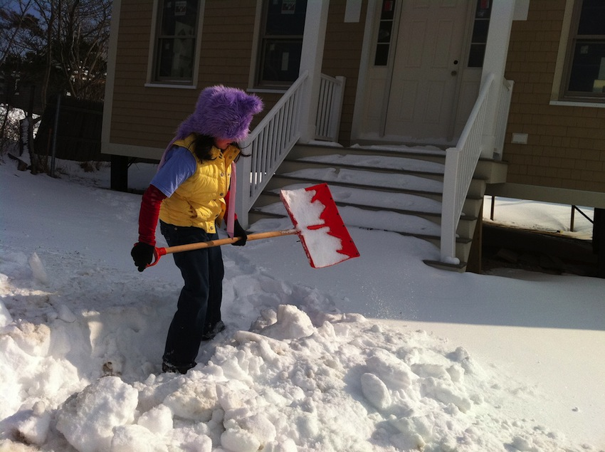 Shoveling Photo Uploaded by AnnaInAustin on Flickr