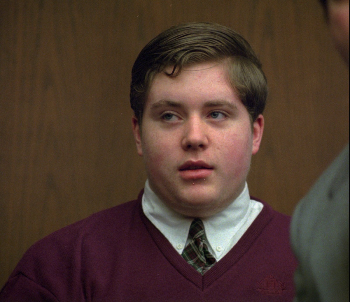 A 1995 file photo of Edward O'Brien on trial via Associated Press
