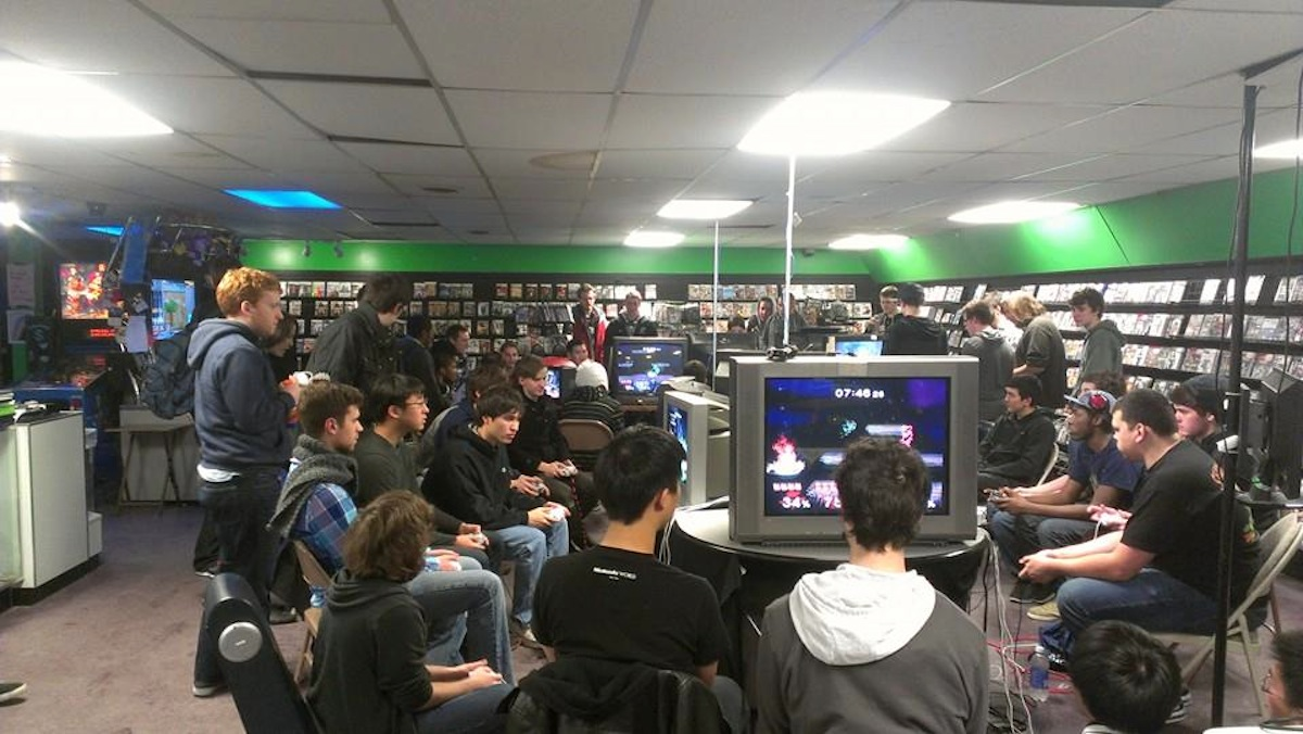 Smash Brothers tournament photo via Matt Zaborowski