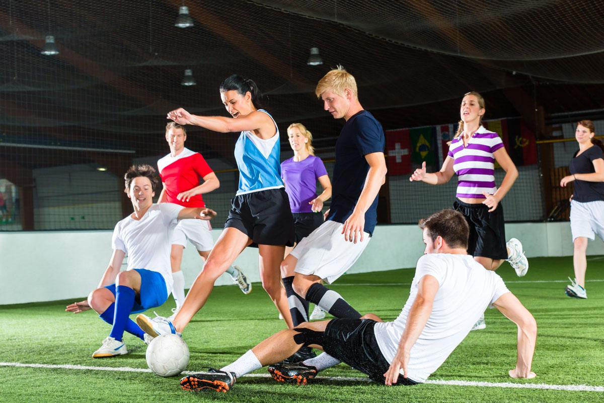 indoor soccer image via shutterstock