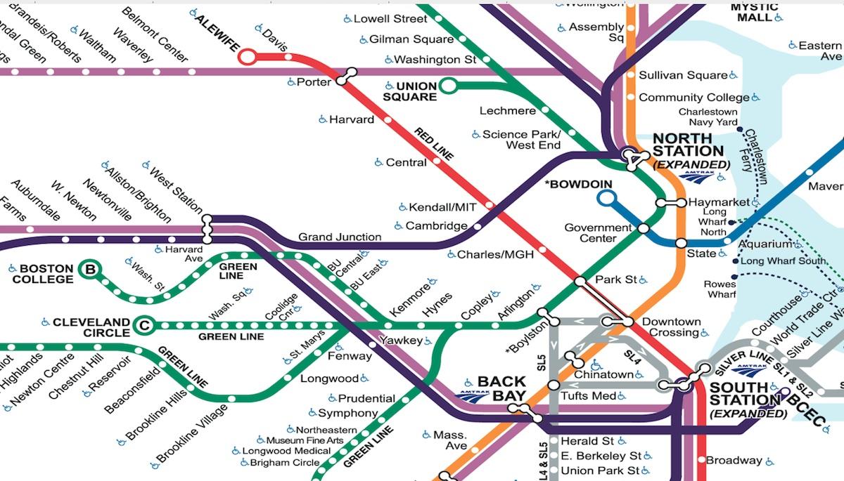 Mbta Map 2018 Mbta Commuter Rail Map Magnet Bsra Bookstore Boston
