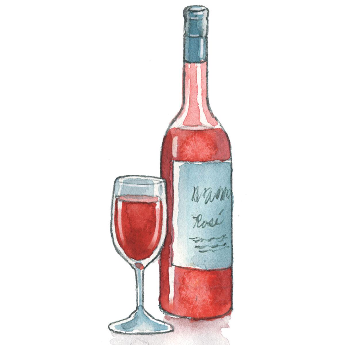 winter rosé wine