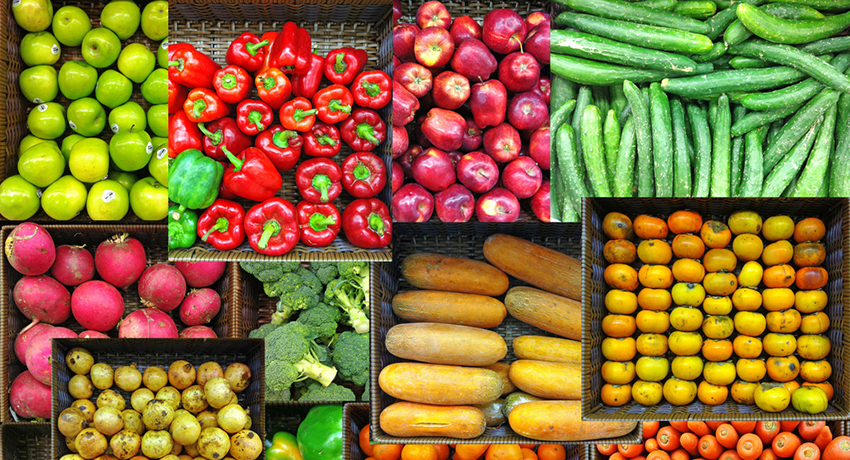 Fruits and vegetables image via shutterstock
