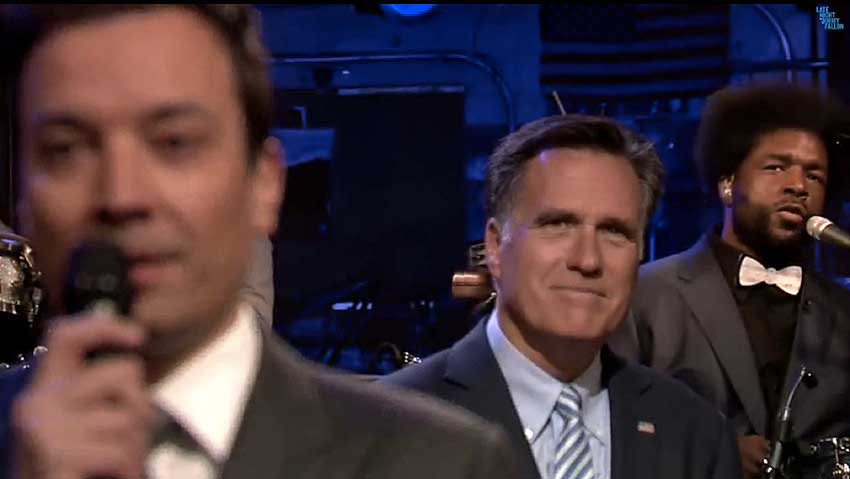 Mitt Romney 'slow jams the news' on Jimmy Fallon