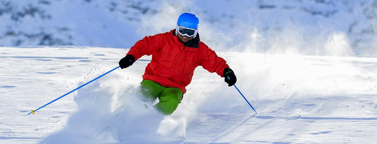 Skiing image via shutterstock