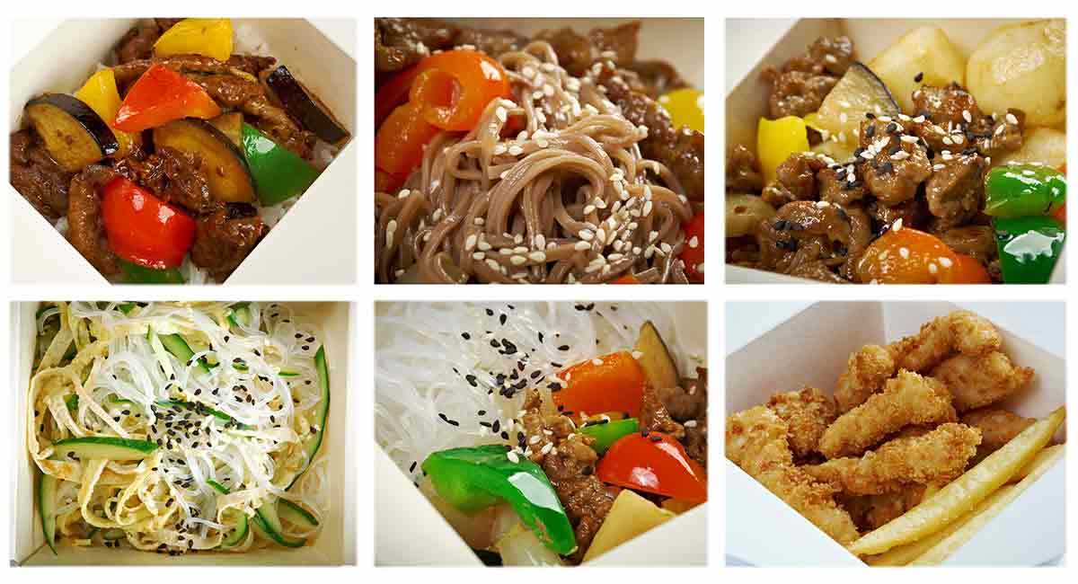 Take out food boxes image via shutterstock