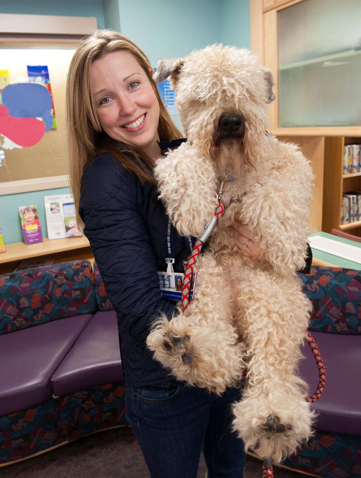 Pawprints dog Herman with handler Sarah