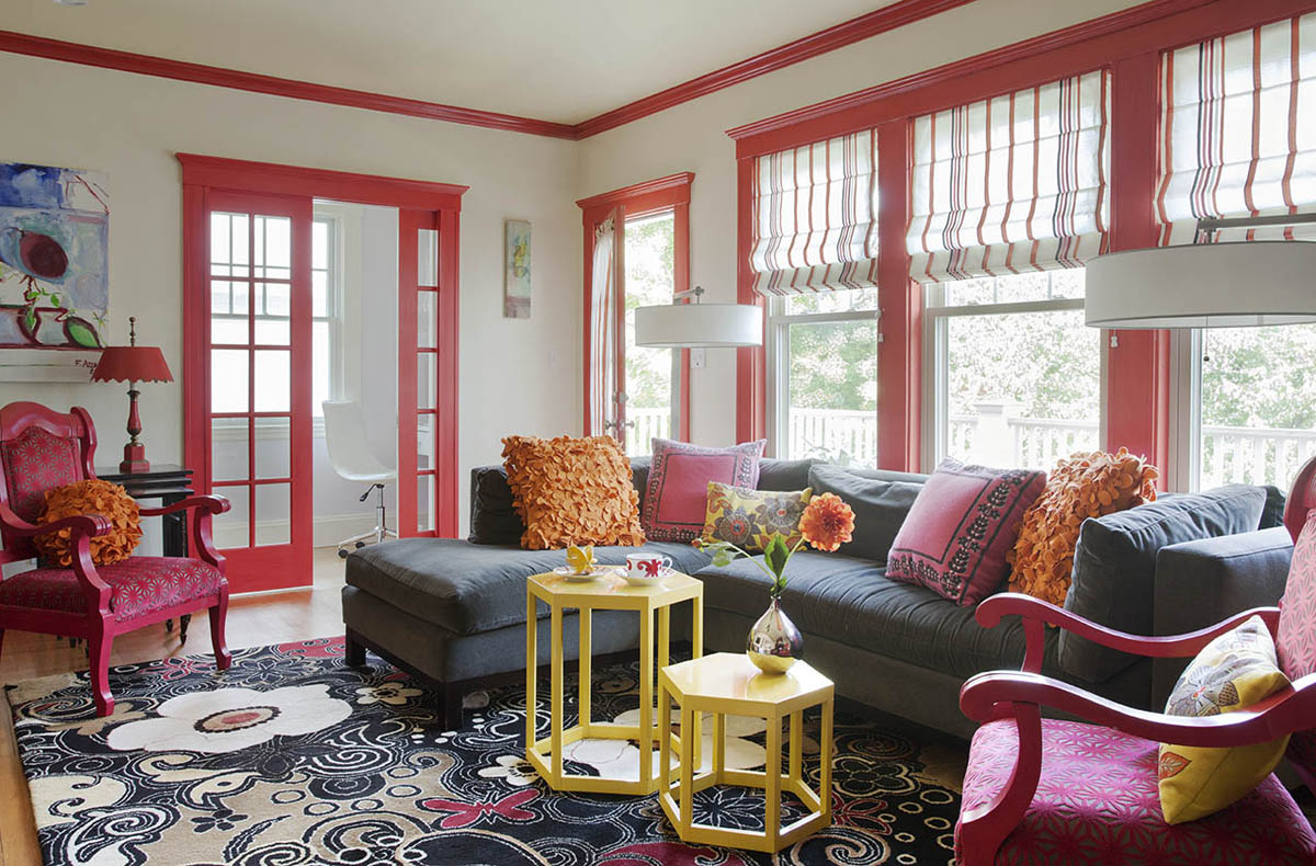 One of Heidi's favorite designs, a living room inspired by flowering bougainvilleas. (Photo provided)