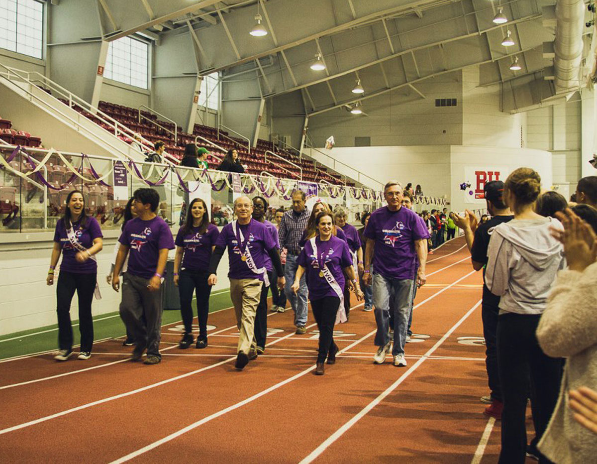 Survivor Lap at Boston University Relay for Life. Photo provided by BU Relay Committee.