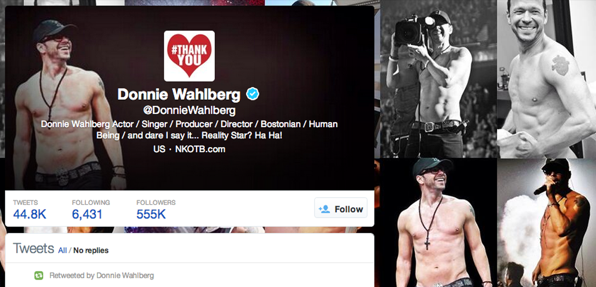 donnie wahlberg twitter