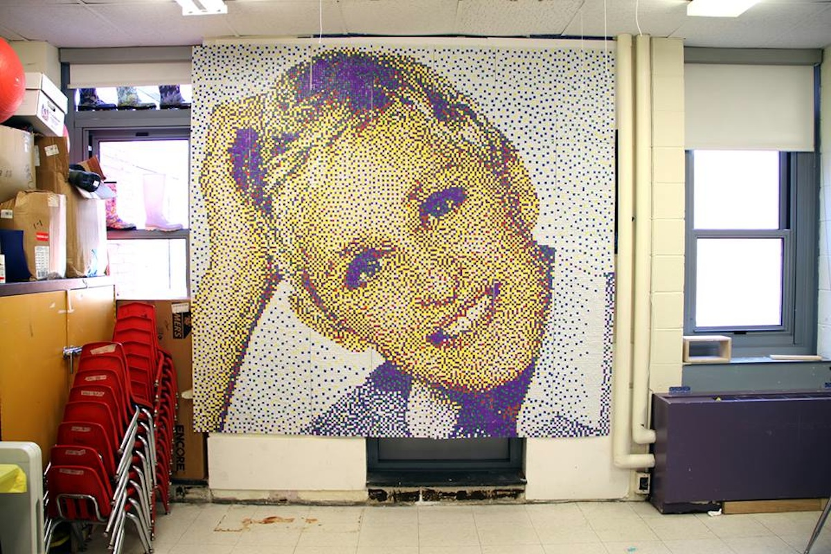 Autistic Students from Dorchester School Make \'Ellen\' Mosaic