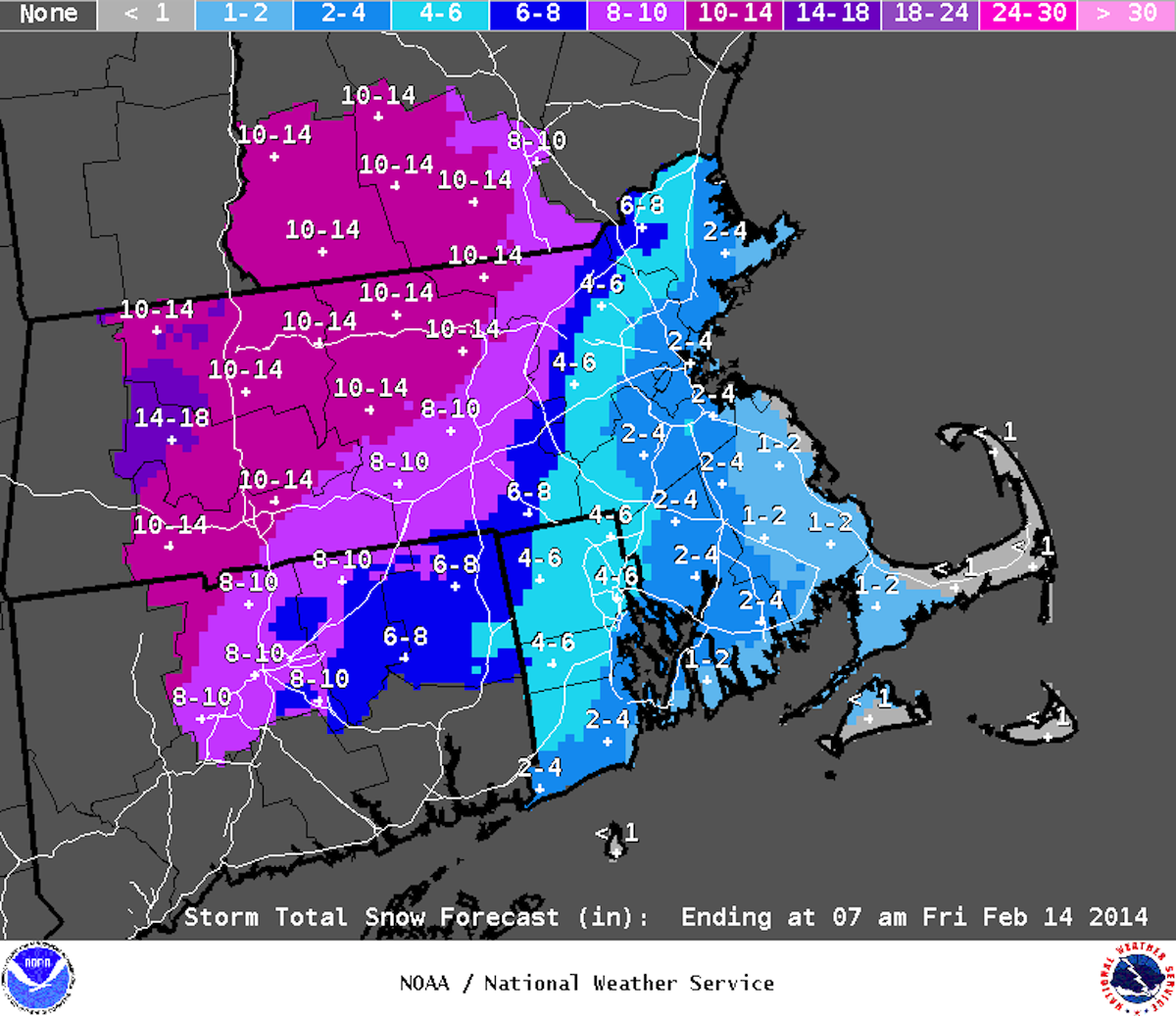 Image via National Weather Service