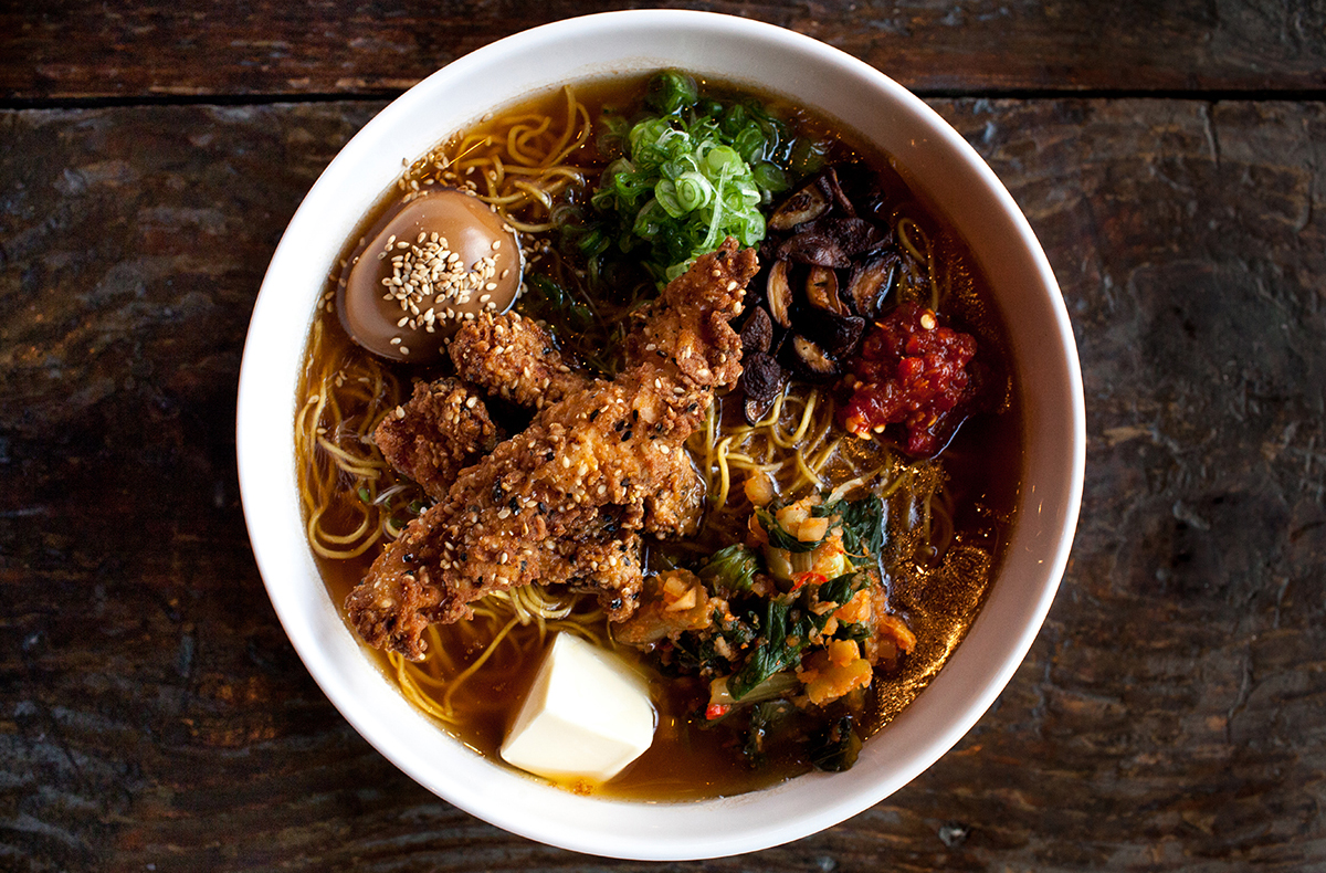 Sweet Cheeks fried chicken ramen