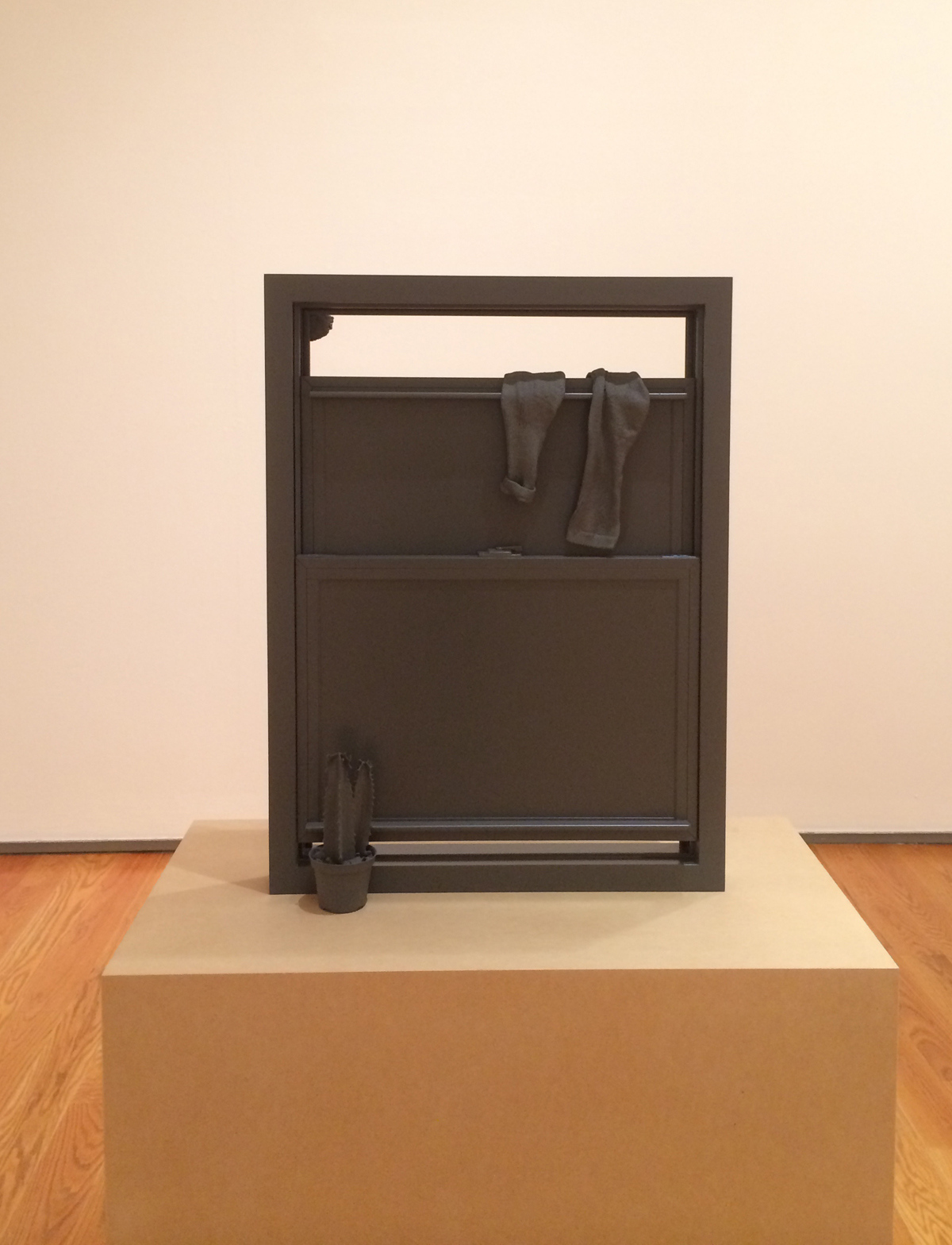 Window, 2012, painted stainless steel, bronze, 36 x 24 x 10