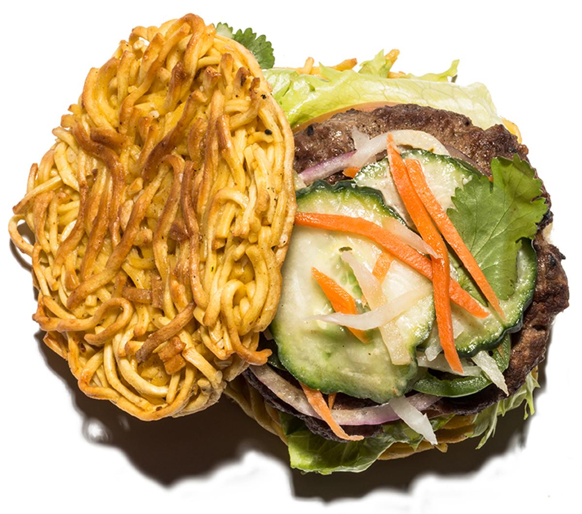 Ramen banh mi burger from Ki Bistro/All Photos by Toan Trinh