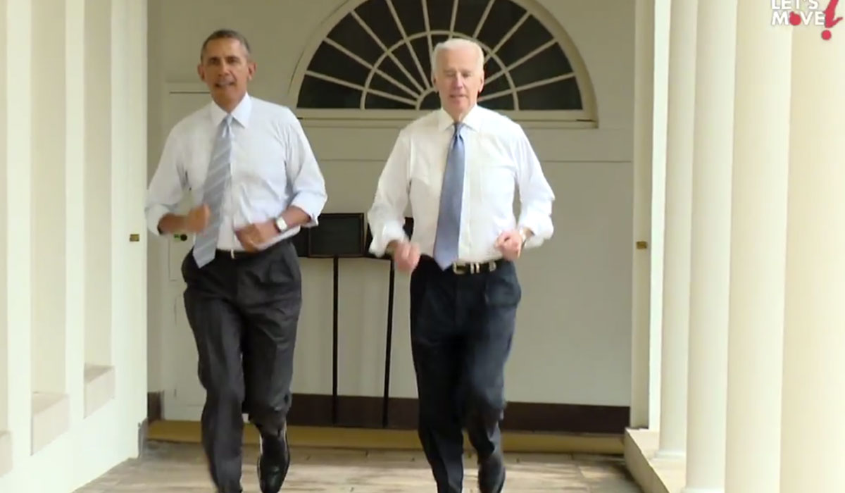 President Obama running for Let's Move