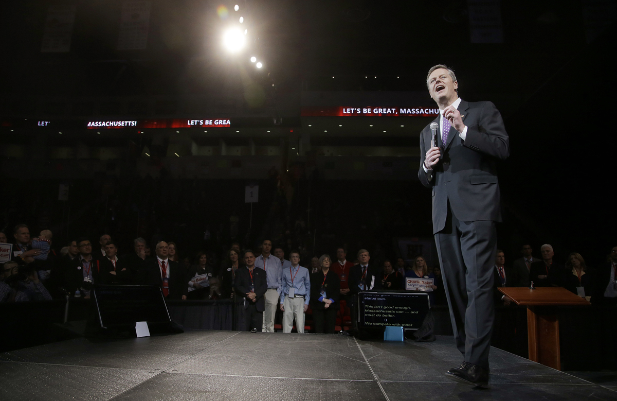 Charlie Baker Photo via AP