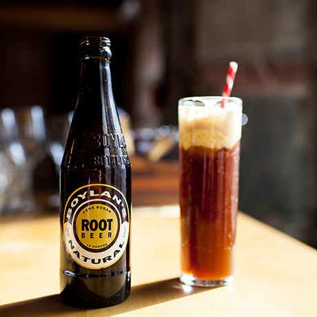 Belly amaro root beer float