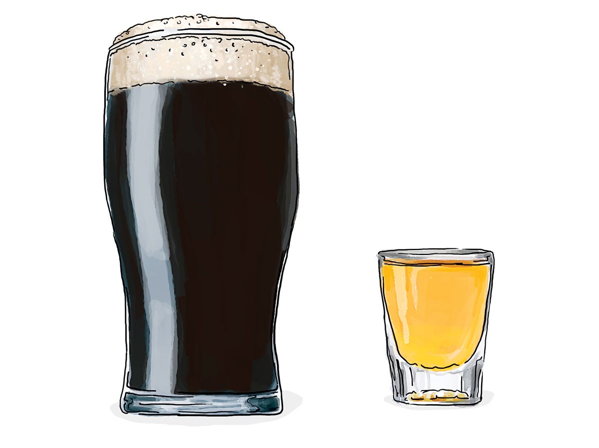 Beer and Shot Illustration