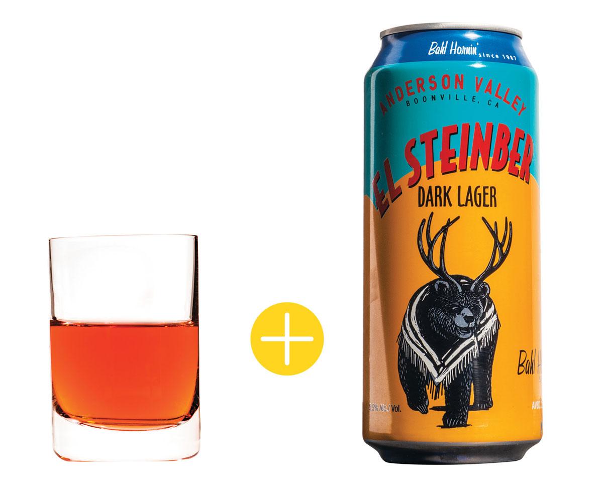 Mini Rosita Cocktail and El Steinber Beer