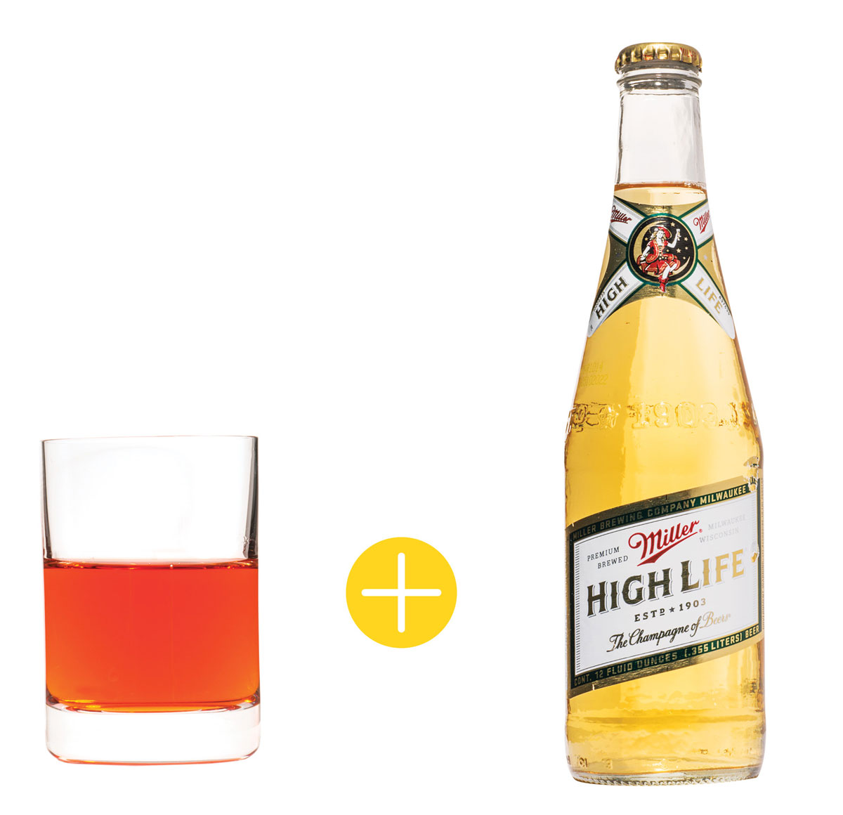 Aperol with Miller High Life