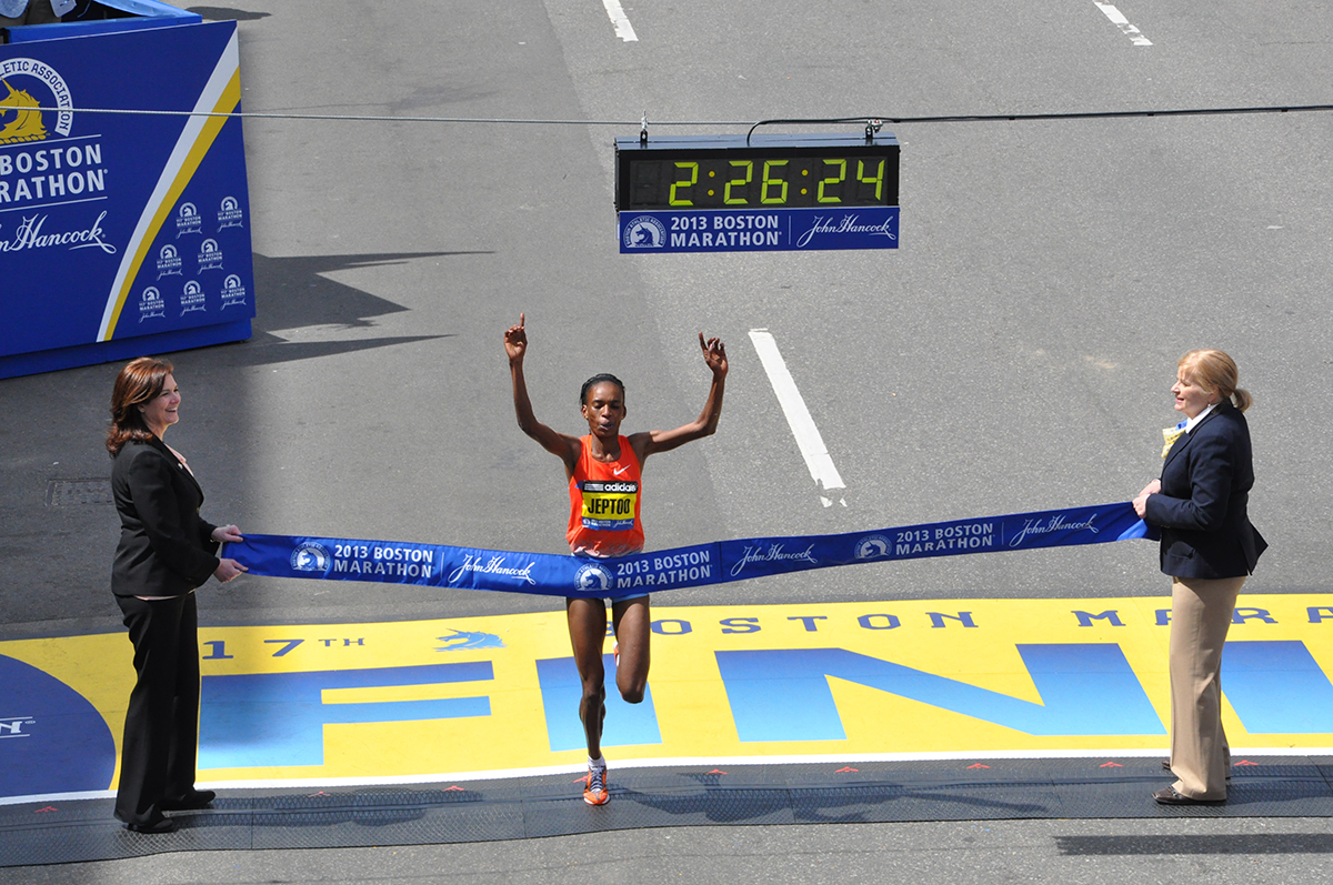 boston marathon finish line rita jeptoo
