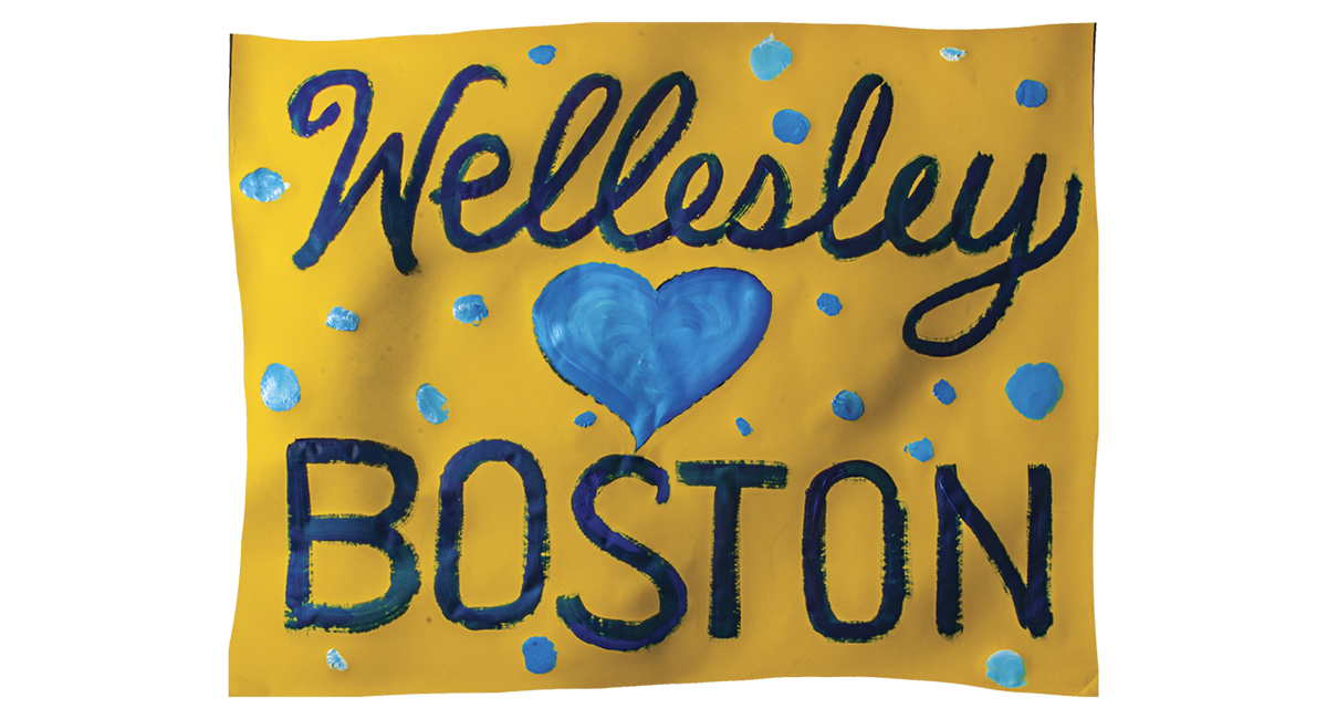 boston marathon wellesley poster