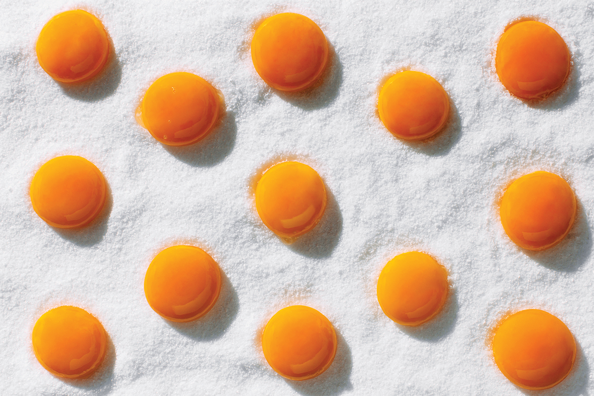 curing egg yolks