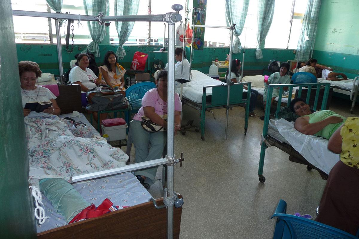crowded Nicaragua hospital