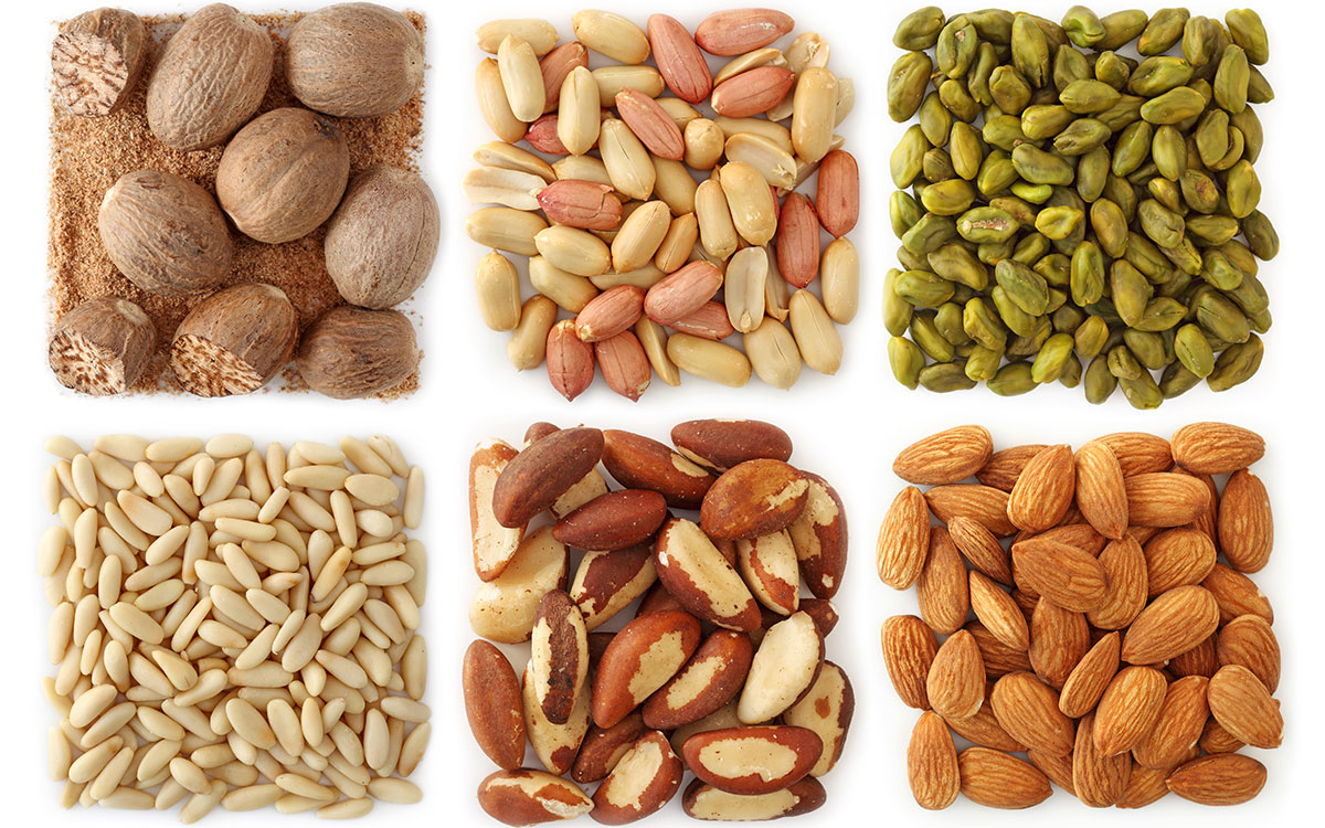 Nuts image via shutterstock