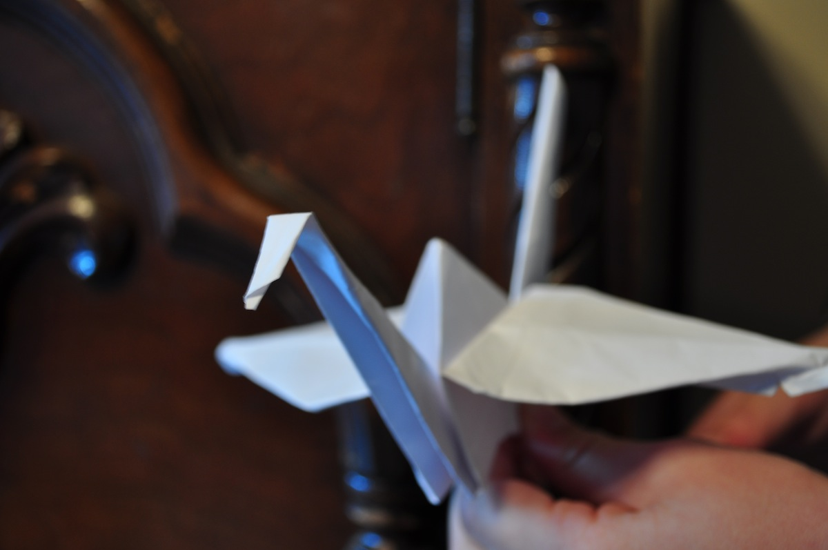 Paper Crane Photo Uploaded bY Carissa Rogers on Flickr