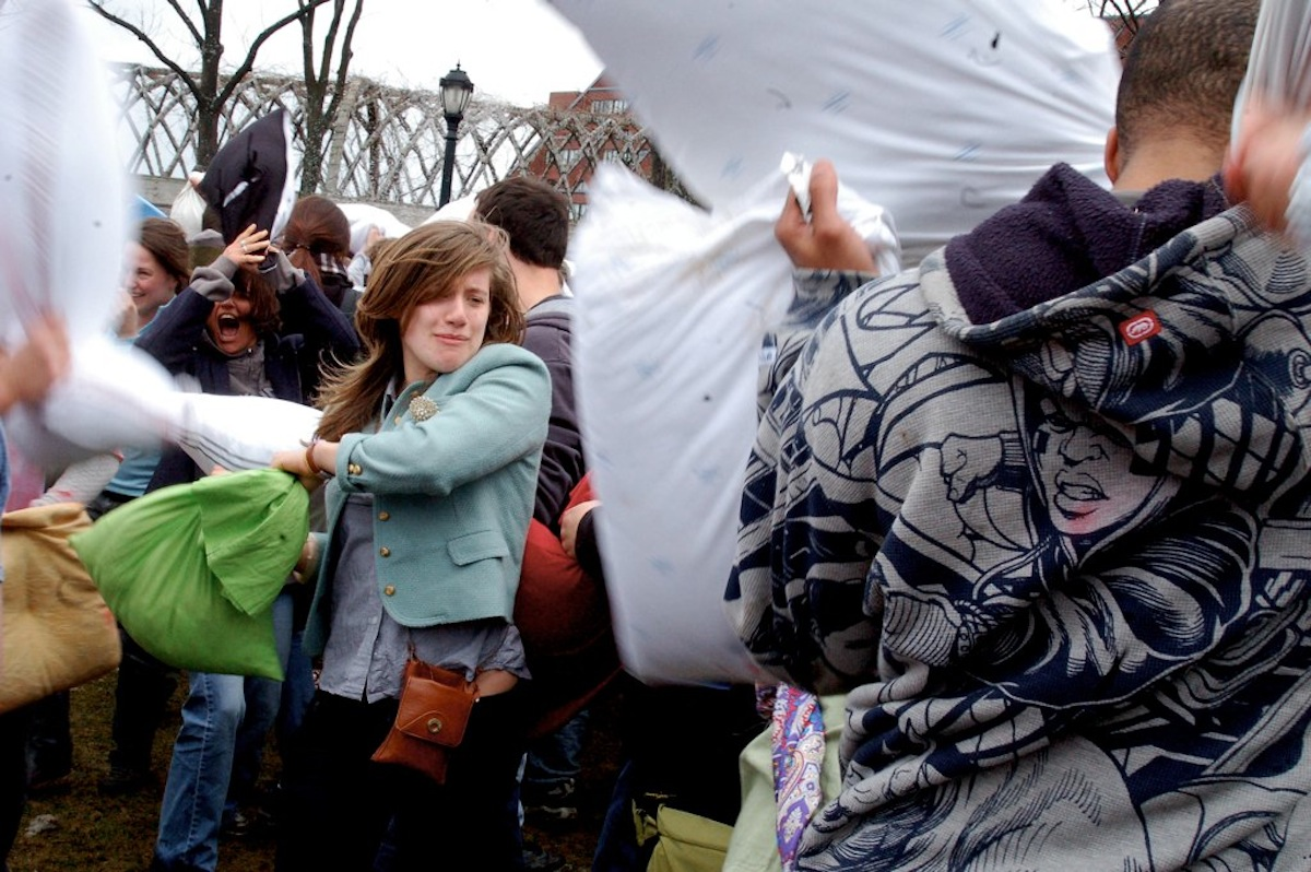 Pillow Fight Photo Uploaded by Ethan M. Long on Flickr