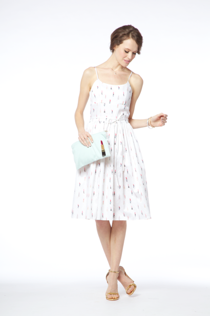 Pucker-Up cotton-sateen dress, $248.