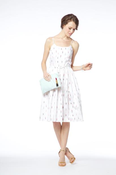 Pucker-Up cotton-sateen dress, $248.