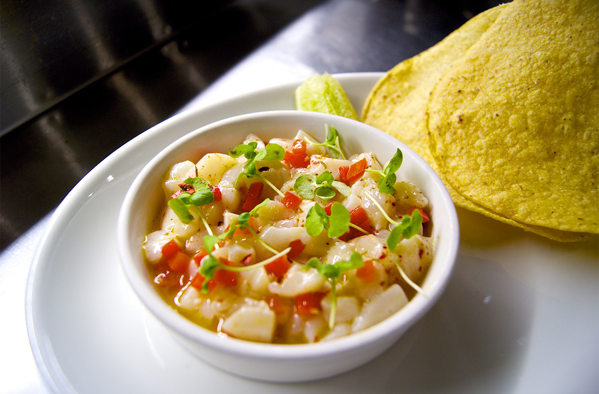 Scallop ceviche from TICO's new ceviche menu. Leo Asaro's new menu ...