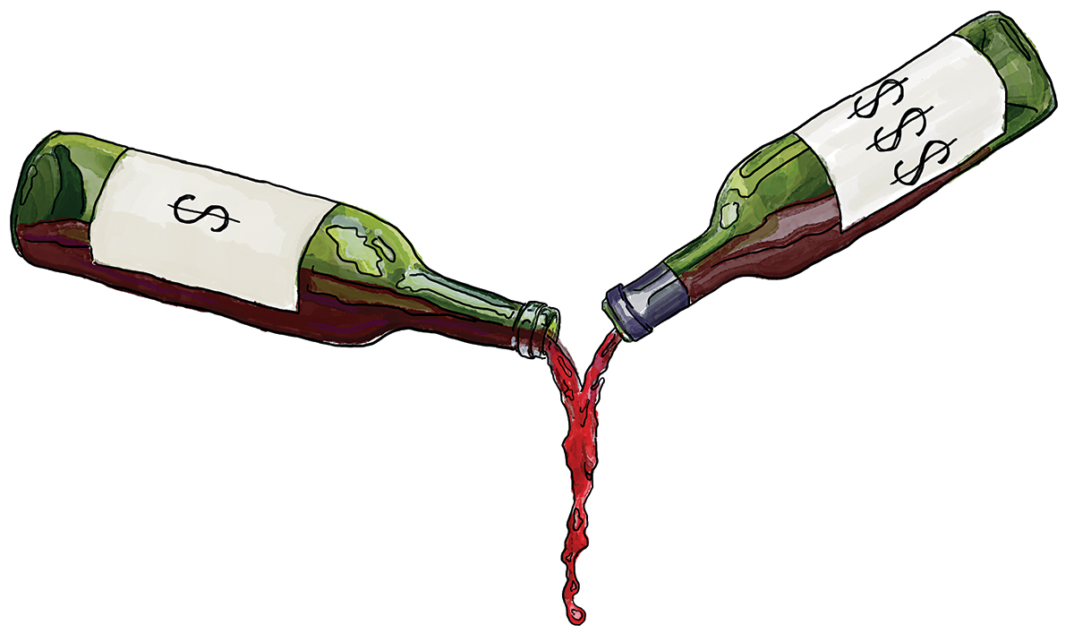 wine tipping
