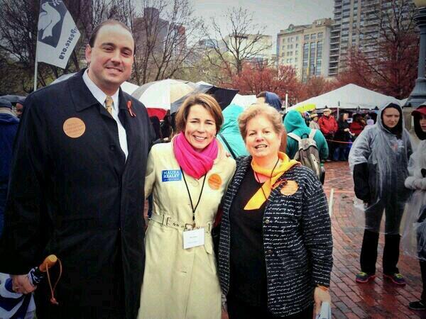 Senator James Eldridge (Acton), Maura Healy (Dem. Candidate for Attorney General, and Barbara Dougan (Families against Mandatory Minimums) / Photo provided