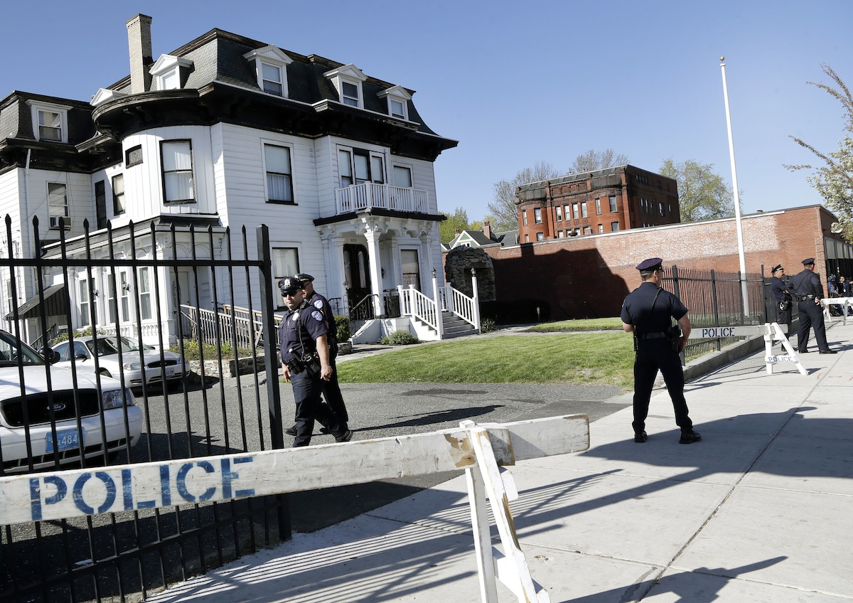 Peter Stefan's Funeral Home in Worcester/Image via Associated Press