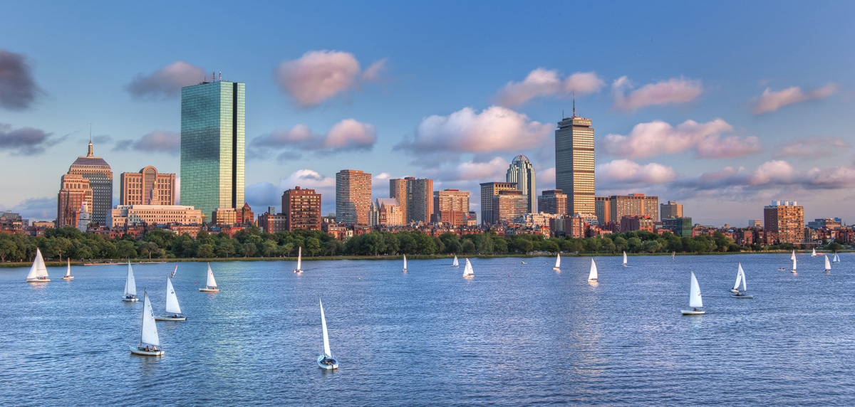 The Charles River Full of Sailboats