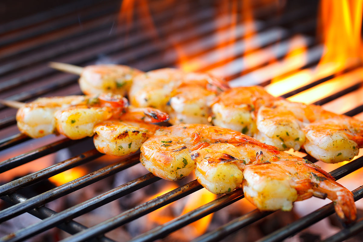 Grilled Shrimp via Shutterstock